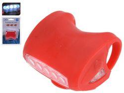 Фонарь велосипедный 5LED, 3 функции освещения, силикон