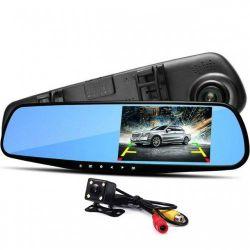 Видеорегистратор-зеркало заднего вида DVR L9000 с камерой заднего вида (ft-36)