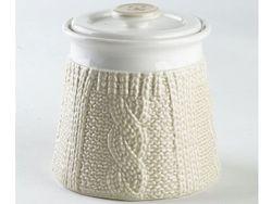 Recipient din ceramica Pullover 500ml, culoare bej