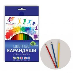 Creioane color Луч Classica 18 culori