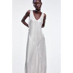 Платье ZARA Серебряный 1463/451/808