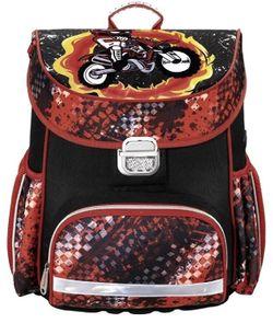 купить Рюкзак для ноутбука Hama 139073 Motorbike Schoolbag, Black/Red в Кишинёве