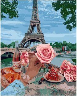 Pictura pe numere 40x50 Romanticul la Paris VA2263