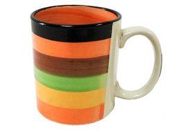 Чашка 300ml, D8.5, H9.5cm, полоски, керамика