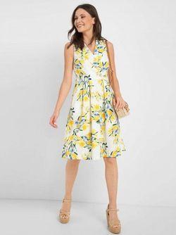 Платье ORSAY Белый/ Желтый