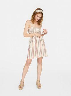 Платье Stradivarius Белый в полоску 2385/561/160