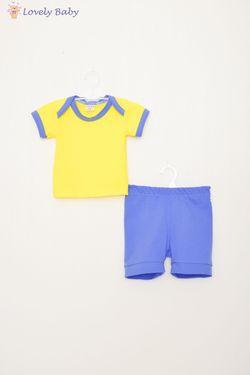 Set tricou + pantaloni albastru