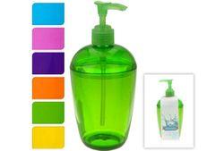 Диспенсер для жидкого мыла прозрачный, разных цветов