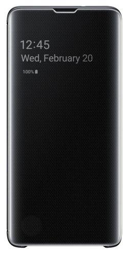 cumpără Husă telefon Samsung EF-ZG973 Clear View Cover Beyound Black în Chișinău