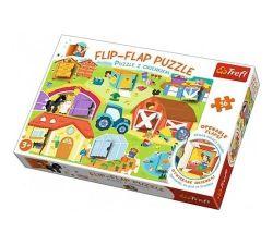 """Puzzle """"36 Puzzle flip-flap"""" - La fermă """", cod 40527"""