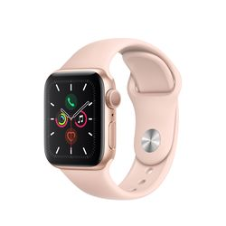Smartwatch Apple Watch Series 5 44mm / Gold Aluminium Case With Pink Sand Sport Band, MWVE2 GPS
