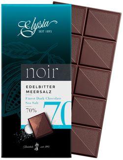Ciocolată neagră cu sare de mare Elysia 70% 1895 100g