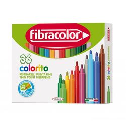 Carioci Fibracolor 36 culori lavabile