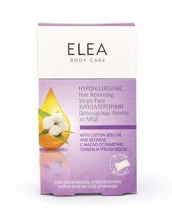 Восковые полоски для лица, SOLVEX Elea, 16 шт., гипоаллергенные