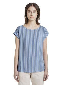 Bluza TOM TAILOR Alb/albastru deschis 1016490 tom tailor