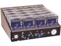 Огни новогодние Звезды 40 micro LED, 2m, 3XAA, белые