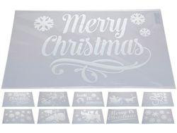 Трафарет для новогоднего рисунка 30X54.5cm