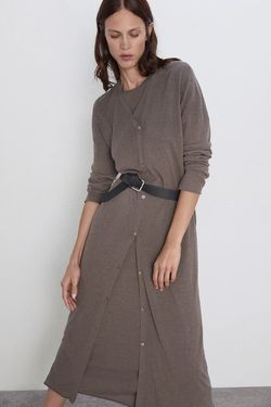 Платье ZARA Серый 1509/106/507