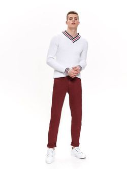 Pantaloni TOP SECRET Bordo SSP3158CE