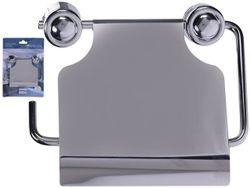Suport pentru hartie igienica cu capac 15.5X11X6.5cm, Inox