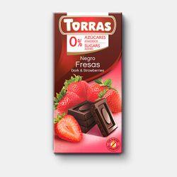Шоколад темный с клубникой без сахара Torras без глютена 75г