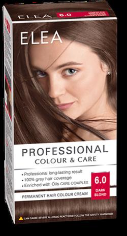Краска для волос,SOLVEX Elea, 138 мл., 6.0 - Тёмно-русый