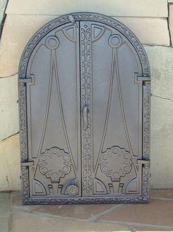 Дверца чугунная глухая двустворчатая DW13