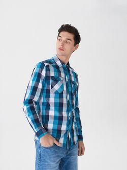 Рубашка HOUSE Синий в клетку ux297-55x
