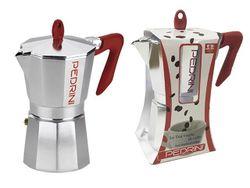 Кофеварка на 6 чашки Pedrini, алюминиевая классическая
