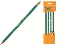 Set creioane simple cu radiera 4buc BIC ECO Evolution 655