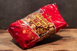 Mix pretzel crackers
