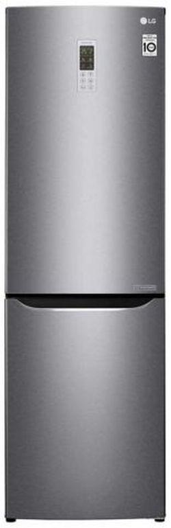Холодильник с нижней морозильной камерой LG GA-B419SLGL, 302л, 190.7см, A+