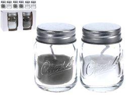 Набор свечей ароматизированных 2шт в стеклянной банке 11X6.5