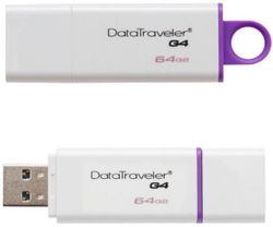 cumpără Flash USB Kingston DTIG4/64GB, White/Violet în Chișinău