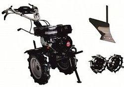 Набор мотоблок TECHNOWORKER HB 704.2 RS ECO + плуг простой + металлические колеса 4*8