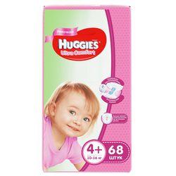 Scutece Huggies Ultra Comfort pentru fetiţă 4+ (10-16 kg), 68 buc.