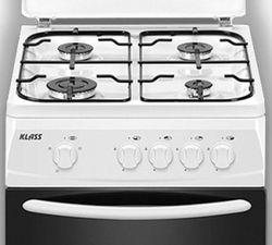 Газовая плита Klass T5401G4-IFFD White