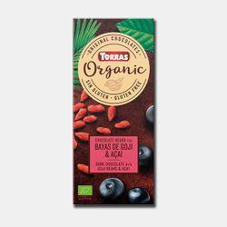 Шоколад темный Bio с ягодами черники и гожи без глютена Torras 100г