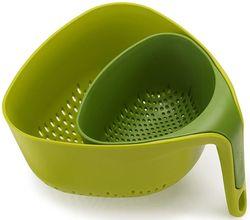 купить Дуршлаг Joseph Joseph 40093 Набор треугольных 2 шт. зелёные в Кишинёве