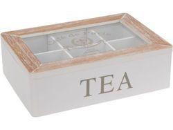 Cutie pentru ceai,6 sectiuni 23X16X7cm, din lemn