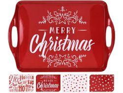 Поднос рождественский 38X23сm, пластик, 4 дизайна