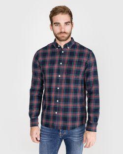 Рубашка TOM TAILOR Темно синий в клетку 1013528 tom tailor