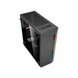 Корпус ATX GAMEMAX Shine, без БП, 1x120мм вентилятор ARGB. Полоса ARGB, TG, пылевой фильтр, USB 3.0, черный