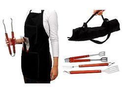 Инструменты для барбекю BBQ +фартук
