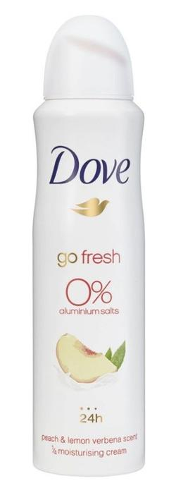 Antiperspirant Dove Go Fresh Peach&Lemon Verbena Scent, 0 % aluminiu, 150 ml