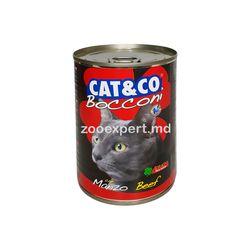 Cat & Co кусочки говядины в соусе 405 gr