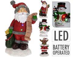 Сувенир светящийся Дед Мороз-Олень-Снеговик 21X13X9cm, 5LED