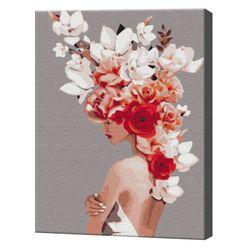Coroana de flori, 40х50 cm, pictură pe numere BS36695