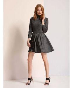Платье TOP SECRET Черный с блестками ssu1806