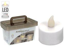 Набор свечей LED чайных 24шт, D3.8cm с таймером 60-96 часов